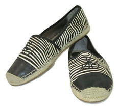 Sam Edelman Shoes Espadrille Flats Lewis Black Calf Hair Womens Size 10 - $19.79