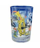 Walt Disney World drinking glass cup mug vtg 100 years Dopey Mickey Donald Pluto - $23.98