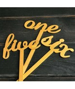 ✰One-Ten✰ Gold Wooden Numbers On Sticks, Wedding Party ✩1-10✩ Table Déco... - $22.12
