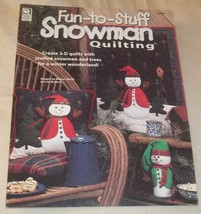 House of White Birches Fun-To-Stuff Snowman Quilting Pattern Book - $1.99