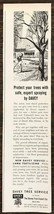 1963 Davey Tree Service Kent Ohio Print Ad Protect Your TRees w Safe Spr... - $8.95