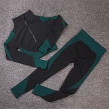 Women's New Crop Tops Leggings Seamless Sportswear High Waist Yoga Suit image 6