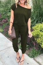 Leopard Print Off Shoulder Jumpsuit - $34.95