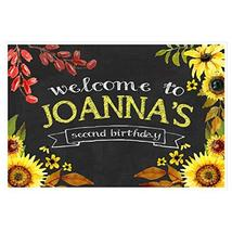 Sunflowers Welcome to Birthday Party Sign - $18.32