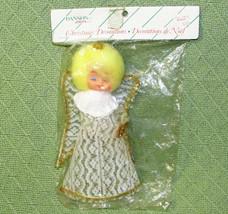 Vintage Christmas ANGEL DANSON Tree Topper Original Package NRFP Yellow ... - $17.82