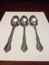 "Rogers Oneida ""President"" Oval Soup Spoon Lot Od 3 Stainless Steel - $25.00"