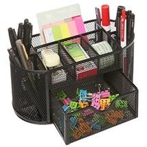 Space Saving Black Metal Wire 8 Compartment Office/School Supply Desktop... - $18.54
