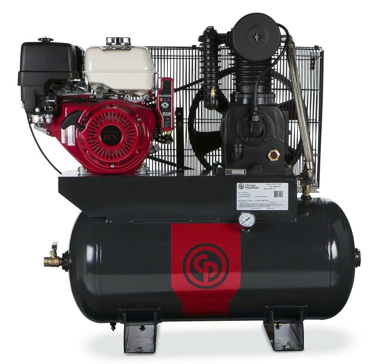 CP RCP-C1130G 11Hp Honda Gas 30 Gallon 2Stage 18.5CFM Truck Mount Air Compressor - $2,920.50