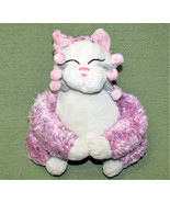 """Whimsy Clay Plush PURPLE CAT Amy Lacombe White Pink Stuffed Animal 10"""" S... - $18.69"""