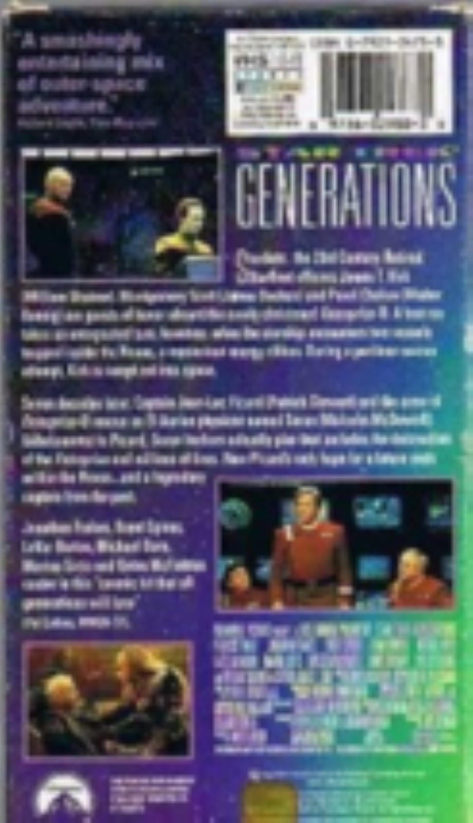 Star Trek: Generations Vhs