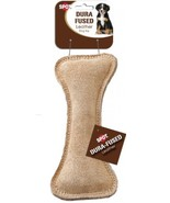 Ethical Pets Dura Fused Leather Bone Dog Toy, 7-Inch - £8.41 GBP