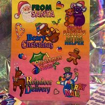 LOT S482 S483 MINT Lisa Frank Christmas Silly Sender Stickers FROM SANTA image 5
