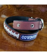 "NFL DALLAS COWBOYS Football Textured Dog Collar Adjusts 18"" to 25"" - $19.95"