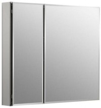 Medicine Cabinet Two-Door Recessed 30 x 26 Surface Mount Silver Aluminum... - $257.39