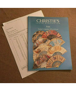 Christie's South Kensington Auction Catalog Vintage Fans Sept 1999 w Res... - $29.00