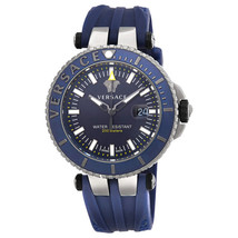 Versace VAK020016 V-Race Diver Blue Silicone Men's Watch - $2,588.32
