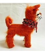 Amigurumi Red Shiba Inu Breed Puppy Dog Crochet Handmade Figurines Gifts... - $39.95