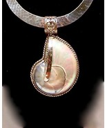 NAUTILUS SHELL Sterling Silver Pendant Slide HANDMADE in USA - $275.00