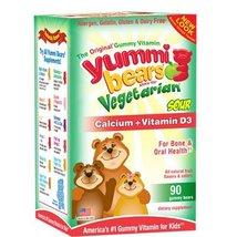 Calcium w/ Vitamin D-Vgtrn Bears Yummi Bear 60 ... - $17.47