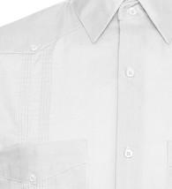 Men's Gentlemens Collection Short-Sleeve Linen White Guayabera Shirt - 4XL image 2