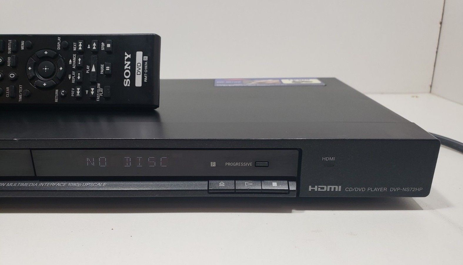 Sony HDMI DVD Player DV-NS72HP...With Remote...Tested image 3