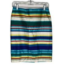 Talbots Petites Striped Pencil Skirt Women Size 2 Rainbow - $19.77