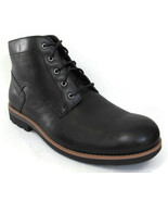 CLARKS PADLEY MID MEN'S BLACK INSULATED LEATHER CHUKKA BOOTS Size 11.5 #10507 - $77.99
