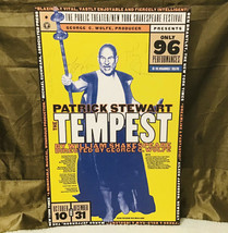 Vintage Patrick Stewart New York Shakespeare Festival Signed Tempest Pos... - $1,485.00