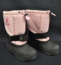 Kamik Rocket Light Pink Insultated Lined Winter Snow Rain Boots 13 Chil... - $27.94