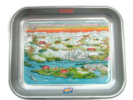 Coca-Cola Vancouver British Columbia World's Fair 1986 Commemorative Tray  - $12.38