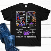 50 Years Of Black Sabbath Thank You For The Memories T Shirt Black Cotto... - $17.99+