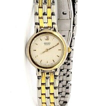Women's Seiko TwoTone Stainless Steal Wrist Watch 1N00-0D80 #32504 - $34.65