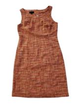 TALBOTS Orange Red Tweed Sheath Dress Size 14 NWT Sleeveless Lined $129 - $77.24