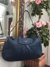 Coach Ashley Large Leather Wristlet Bag Teal Green Blue F48103  B13 - $69.29