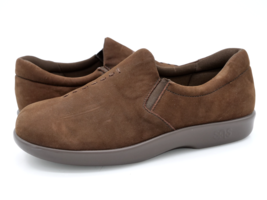 SAS Womens 7.5W Brown Tripad Comfort Leather Casual Slip On Flat Loafer Shoes - $29.99