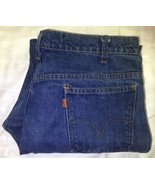 Vtg Levis 646 Jeans Bell Bottoms Flare Blue Denim Orange Tab 35x29 - $44.54