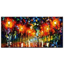 ARTISAN Modern City scape Knife art Wall painting print on canvas home d... - $22.00+
