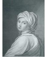 BEATRICE CENCI Roman Noblewoman - 1888 Antique Print after Guido Reni - $22.49