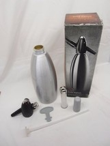 iSi Stainless Steel 1L 1 Liter Soda Siphon Bottle Seltzer Spritzer Silve... - $33.00