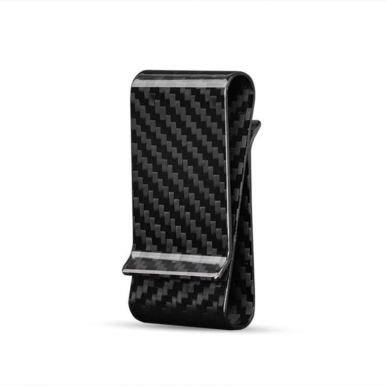 Double side carbon fiber money holder clip bla 4