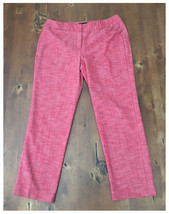 Lades Sharagano Red Linen Feel Pants Slacks Siz... - $5.93