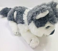 Goffa Gray & White Husky Samoyed Malamute Laydown Dog Stuffed Plush Wolf... - $13.60