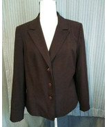 Women's Blazer Jacket By Requiremets Size 14 Lined Vintage  Yet Timeless - $19.79