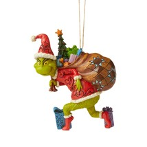 Jim Shore 2020 Grinch Collection Grinch Tiptoeing Hanging Ornament 6006572 - $23.75
