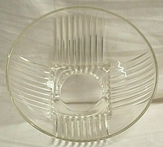Park Avenue Clear Federal Glass Round Serving Bowl Vertical Ribs Glassware MCM - $26.72