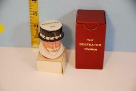 Vintage Beefeater Gin Bottle Figural Topper Pourer in Original Box - $5.93