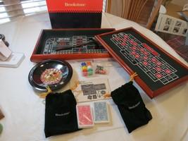 Vintage Brookstone Casino Jeux de Cartes Set Blackjack, Roulette Paris Rare - $100.92