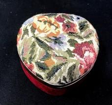 Vintage Musical Jewelry Box Heart Trinket Storage Organizer Girl Mirror ... - €59,81 EUR