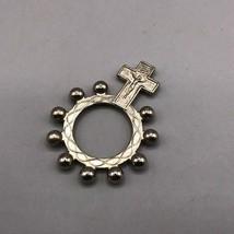 Vintage Pocket Prayer Rosary Ring Medallion - $33.78