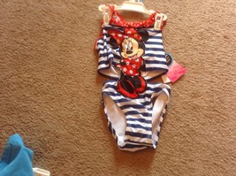 Baby Girl  Bathing Swimsuit UPF50+ New Minnie Mouse 18 Mo Disney red whi... - $9.46